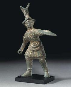 A ROMAN BRONZE SOLDIER CIRCA 3RD-4TH CENTURY A.D.