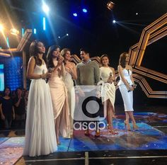 This is Kim Chiu, Jodi Sta. Maria, Piolo Pascual, Bea Alonzo, Liza Soberano, and Kathryn Bernardo smiling for the camera while doing their hosting stint after the Parade of Star Magic Talents during Star Magic Day and Star Magic 23rd Anniversary on ASAP 20 at ABS-CBN Studio 10 last July 26, 2015. #KimChiu #ChinitaPrincess #JodiStaMaria #PioloPascual #BeaAlonzo #LizaSoberano #KathrynBernardo #ASAP20 #ASAPStarMagicDay #StarMagic23 #starmagic23rdanniversary Magic Day, Star Magic, Child Actresses, Child Actors, Bea Alonzo, Half Filipino, Born Again Christian, Liza Soberano, Cocktail Outfit