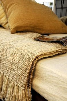 Mellow Yellow, Mustard Yellow, Mustard Seed, White Bench, Chair Covers, Autumn Home, Rustic Chic, Color Themes, Linen Bedding