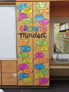 26 Best Growth Mindset Bulletin Boards: Examples & Pictures 5th Grade Classroom, Middle School Classroom, New Classroom, Classroom Design, Classroom Themes, Classroom Organization, Classroom Posters, Primary Classroom Displays, Science Classroom Decorations