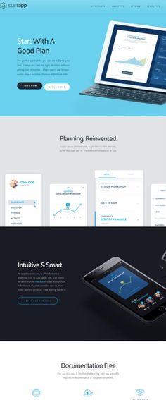 StartApp Demo : Mobile App WordPress Theme : ThemeFuse http://www.wpproreview.com/startapp-themefuse/ #WordPress