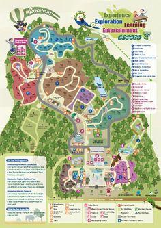 The map of the Taipei Zoo, #Taiwan