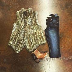 Fur Vest S/M and M/L $240