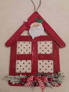 Popsicle Stick Christmas Crafts, Christmas Decorations For Kids, Popsicle Crafts, Christmas Ornament Crafts, Craft Stick Crafts, Christmas Projects, Kids Christmas, Handmade Christmas, Holiday Crafts