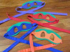 Teenage Mutant Ninja Turtles / Masks / Children by madglamapparel, $8.00