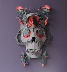 Ornate Paper Sculptures by Helen Musselwhite - The Fox Is Black