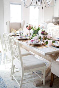 Beautiful Easter Table setting