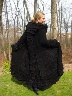 Love all the colors, but would most likely wear black more than any other color......From Katwise at Etsy,com