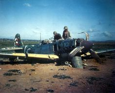"Crashed Kawasaki Ki-61 Hien,""Tony"".  A number of Ki-61s were also used in Tokkotai (kamikaze) missions launched toward the end of the war."