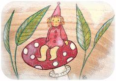 Holzkiste, Wichtel, Jahreszeitentisch von Susannelfes Blumenkinder  auf DaWanda.com