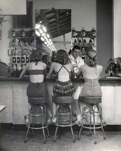girl time/ oh to have lived when soda fountains were a place to dress up!