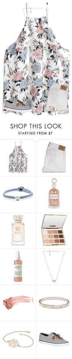 """""""comment name ideas for my group please!"""" by rileykleiin ❤ liked on Polyvore featuring H&M, Abercrombie & Fitch, Lokai, Mullein & Sparrow, Tory Burch, tarte, Mario Badescu Skin Care, Kendra Scott, Elizabeth Arden and Cartier"""
