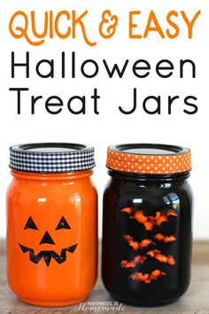 quick easy halloween treat jars happiness is homemade