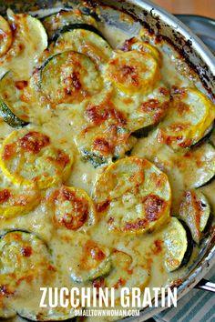 Recipes Breakfast Vegetarian Zucchini and Yellow Squash Au Gratin Zuchinni Recipes, Veggie Recipes, Low Carb Recipes, Recipe Zucchini, Vegetarian Recipes, Cooking Recipes, Vegetable Gratin Recipes, Garden Vegetable Recipes, Potato Recipes
