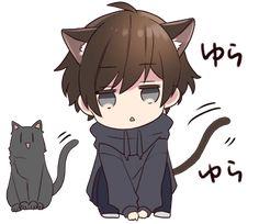It is a cute sticker of Menhera-kun. Dibujos Anime Chibi, Cute Anime Chibi, Chica Anime Manga, Anime Neko, Cute Anime Boy, Kawaii Anime Girl, Anime Art Girl, Neko Boy, Chibi Boy