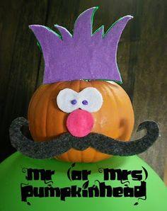 Housewife Eclectic: Mr. Pumpkinhead - Last-Minute Pumpkin Decorating