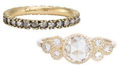 9 Gorgeous Engagement Ring + Wedding Band Combos - Satomi Kawakita and Audry Rose