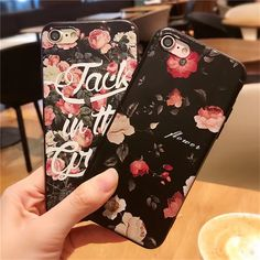 Folra Flower Fashion Letter Silicon Cover Case for iPhone 7 6s 6 Back Cover soft capa fundas coque for iphone 5 5s 7 6 6s plus