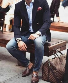 Mens Fashion Smart – The World of Mens Fashion Gq Style, Men Style Tips, Business Casual Men, Men Casual, Casual Boots, Mode Old School, Blazer Outfits Men, Herren Outfit, Mens Fashion Suits
