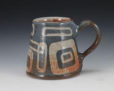 Stoneware Mug Mod Shino Circles.