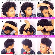 Angled frohawk tutorial by Neecie #naturalhair #frohawk #tutorial