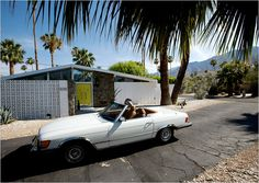 The William Krisel-designed home we stayed at in Palm Springs in June 2012...fabulous! The car was in the garage too, but no keys...