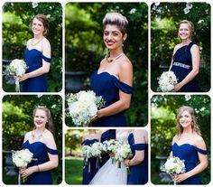 Beautiful bridesmaid photos at Amy's Courtyard in Palisade, Colorado  http://www.raynamcginnisphotography.com/amys-courtyard-palisade-wedding-photography-marissa-adam/  Navy Blue Bridesmaid Dresses, Bridesmaid Dress Inspiration, White Wedding Bouquets, Amy's Courtyard Wedding, Palisade Wedding Photography