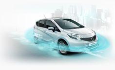 Povsem novi #Nissan #Note. Vozite pametneje in varneje z naprednimi tehnologijami, vključno z Nissanovo tehnologijo varnostnega ščita - Safety Shield