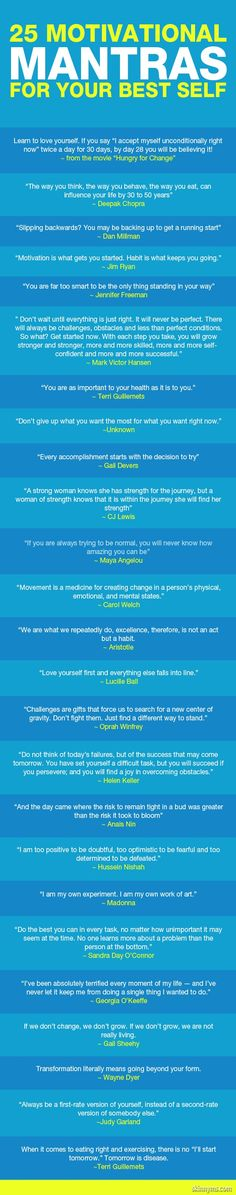 A huge part of my fitness journey has been to stay motivated. These motivational mantras are some of the best :) #motivation #mantras