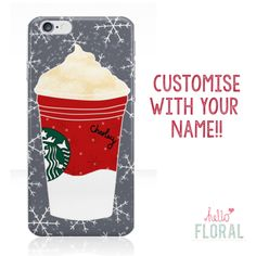 Personalised Starbucks Christmas iPhone 4/4s 5 5c 5s 6 Samsung Galaxy S2 S3 S4 s5 Ace iPod Touch 4th 5th hard case by hellofloral on Etsy https://www.etsy.com/listing/210582496/personalised-starbucks-christmas-iphone