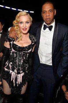 Pin for Later: Pendant Que Tout le Monde Parlait de Son Derrière, Madonna, Elle, a Passé une Bonne Soirée Madonna et Jay Z