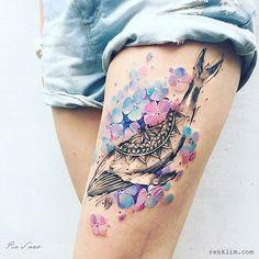 Değişen mevsimlerden esinlenilerek yapılmış çiçek temalı dövmeler - Nature Themed Floral Tattoos Inspired By The Changing Seasons