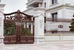 Pergola Kits With Canopy Home Gate Design, Front Gate Design, Main Door Design, Fence Design, House Design, Classic Fence, Villas, Compound Wall Design, Pillar Design