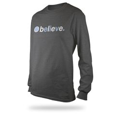Believe L/S Shirt - Charcoal - $29.95