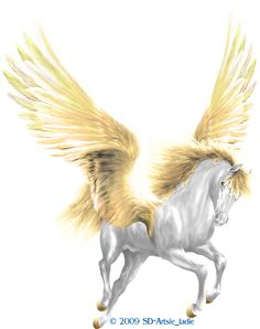 pegasus   Artsie's* Pegasus - The Great Winged One#Pegasus - The Golden Promise Thank you for 'not' removing my name/copyright on my work, which is copyrighted to Artsieladie/Sharon Donnelly. People are stealing this piece and removing my name/copyright, and then are using MY work w/o MY permission. I'm attempting to get the word out that it's copyright infringement.