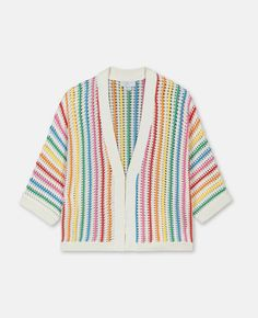 Rainbow Stripes Knit Cardigan - Stella Mccartney Kids