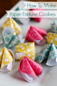 DIY: Paper Fortune Cookies!
