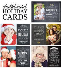 Jessica Marie Design Blog: Chalkboard Holiday Cards