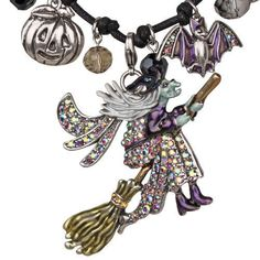 NEW KIRKS FOLLY WICKED SEASON OF THE WITCH CORDED NECKLACE / PIN #KirksFolly