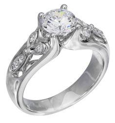Diamond Ring, .07 Carat Diamonds on 14K White Gold