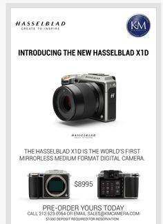 First images of the new Hasselblad X1D-50c mirrorless camera - mirrorlessrumors