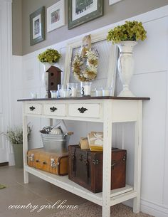 DIY console table from Country Girl Home