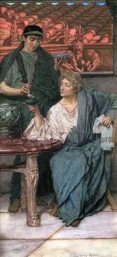 The artwork The Roman Wine Tasters - Sir Lawrence Alma-Tadema we deliver as art print on canvas, poster, plate or finest hand made paper. Lawrence Alma Tadema, Architecture Antique, Academic Art, Dutch Painters, Pre Raphaelite, Dutch Artists, Famous Artists, Art Database, Ancient Rome
