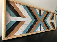 Wood Wall Art Wood Wall Decor Wood Art Geometric Wood Wall