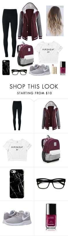 """""""First Day of School"""" by charchar79076 ❤ liked on Polyvore featuring Givenchy, Victoria's Secret, Recover, NIKE, Chanel and Stila"""