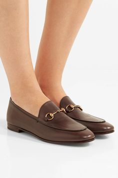 Gucci - Jordaan Leather Loafers - Chocolate - IT41.5