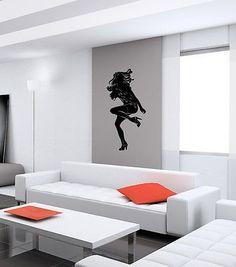 WALL VINYL STICKER DECALS ART MURAL SEXY SEDUCTIVE DANCING GIRL K724