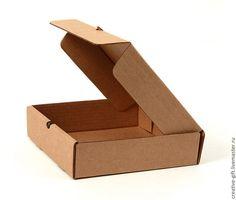 Купить Коробка гофра 20х20х5 см - коричневый, коробки для хранения, коробка, упаковка, товары для