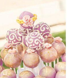 Tangled inspired cake pops