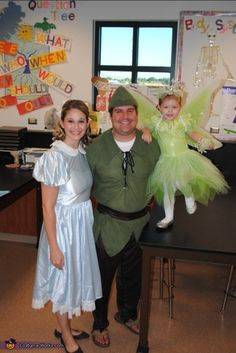 Peter Pan, Wendy, and Tinkerbell - 2013 Halloween Costume Contest via @costumeworks